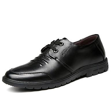 Ανδρικά Παπούτσια άνεσης Δερμάτινο Καλοκαίρι Oxfords Μαύρο / Καφέ
