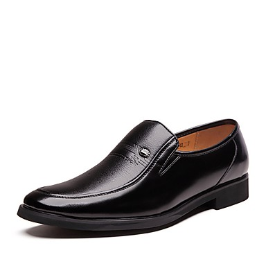 رجالي أحذية الراحة مجهرية ربيع & الصيف المتسكعون وزلة الإضافات أسود / بني