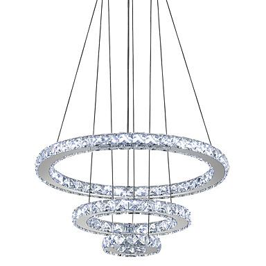 Circulaire Lustre Lumière d'ambiance Plaqué Métal Cristal, LED 110-120V / 220-240V Blanc Neige Source lumineuse de LED incluse / LED Intégré
