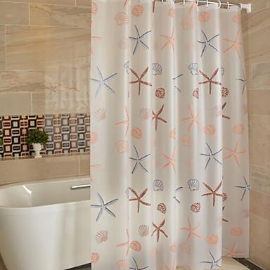 Shower Curtains Hooks Mediterranean 100g M2 Polyester Knit Stretch Machine Made New Design