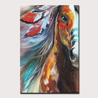 167c64d7b5 Oil Painting Hand Painted - Abstract / Pop Art Modern Rolled Canvas 7059944  2019 – $38.75
