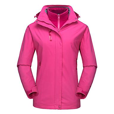 DZRZVD® Žene Vodootporna jakna za planinarenje 3-u-1 Vanjski Pasti Proljeće Vodootporno Ugrijati Vjetronepropusnost Prozračnost Jakna Jakne 3-u-1 Majice Vodootporan Zipper Rain Proof Vježbanje na