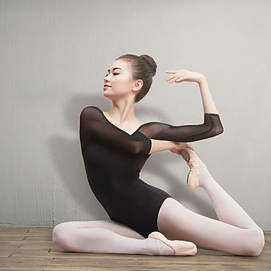 Ballet Gympakken Dames Opleiding / Prestatie Elastaan / Lycra Combinatie 3/4 mouw Gympak / Onesie