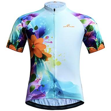 JESOCYCLING Women s Short Sleeve Cycling Jersey - Blue Bike Jersey Top 9618549ad
