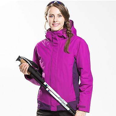 FLYGAGa Žene Túrakabát Vanjski Zima Vjetronepropusnost Anatomski dizajn Vodootporni patent YKK patent Jakna Jakne 3-u-1 Zimska jakna Vodootporan Zipper Camping & planinarenje Skijanje Pješačenje