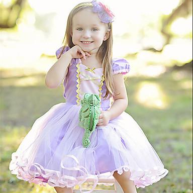 Princeza Cosplay Nošnje Dječji Djevojčice Haljine Božić Halloween Karneval Festival / Praznik Til Pamuk Crvena Karneval kostime Princeza