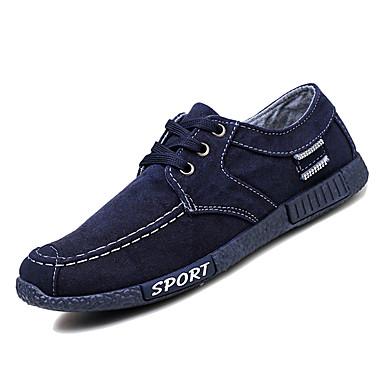 Muškarci Udobne cipele Platno / Traper Zima Ležerne prilike Sneakers Non-klizanje Dark Blue / Sive boje