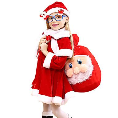 コスプレ衣装 サンタクロース 子供用 女の子 クリスマス クリスマス カーニバル こどもの日 イベント/ホリデー ぺリュチェ ルビーレッド カーニバルコスチューム 休暇