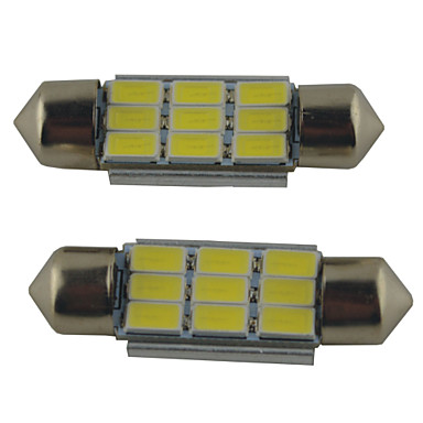 preiswerte Auto Innenleuchten-2pcs 39mm / 36mm / 41mm Auto Leuchtbirnen 2W SMD 5630 215lm 9 Leselampe