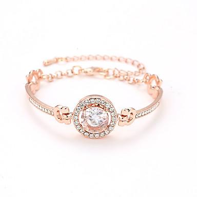 ae94d45437fd Mujer Cristal Cadena de tenis Pulsera de cristal Brillante Sol Precioso  Simple Moda Elegante Pulseras y Brazaletes Joyas Dorado   Plata   Oro Rosa  Para ...