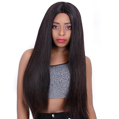 capelli naturali Remy 360 frontale Lace frontale Parrucca Brasiliano Liscio Silky liscia Parrucca 130% 150% Densità dei capelli Per donna Parrucche di capelli umani con retina Extension di capelli