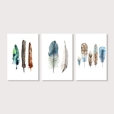 abordables Toiles-Imprimé Impression sur Toile - Moderne Ethnique Moderne Trois Panneaux Art Prints