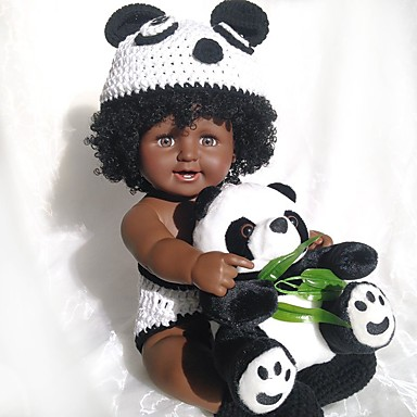 halpa Nukke-Reborn Dolls Poikavauvat Afrikkalainen nukke 20 inch elävä Sievä Lapset / nuoret Lasten Unisex Lelut Lahja