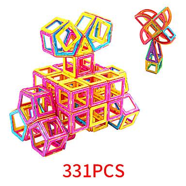 Bloques magnéticos Azulejos magnéticos 331 pcs El modelo geométrico Todo Chico Chica Juguet Regalo