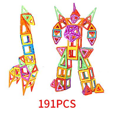 abordables Blocs Magnétiques-Blocs Magnétiques Carreaux magnétiques 191 pcs Motif géométrique Tous Garçon Fille Jouet Cadeau
