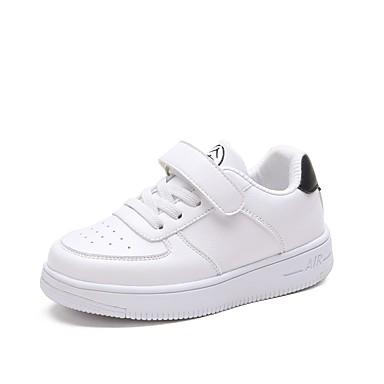 9c4f8c72b90 Αγορίστικα Παπούτσια PU Άνοιξη & Χειμώνας Ανατομικό Αθλητικά Παπούτσια για  Εφηβικό Λευκό / Μαύρο / Άσπρο