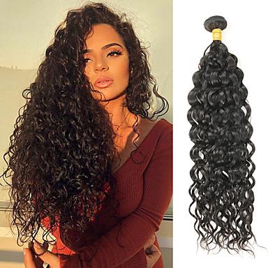 1 pacchetto Brasiliano Riccio capelli naturali Remy Extension di capelli umani 8-28 pollice Tessiture capelli umani Soffice Migliore qualità Nuovo arrivo Estensioni dei capelli umani Per donna