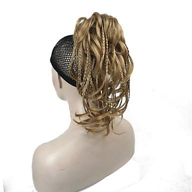 povoljno Perike i ekstenzije-Isječak U / S Bundle kose / Sintetičke perike / Konjski repići sintetički Sintentička kosa Kose za kosu Ugradnja umetaka Ravan kroj 11 inča Svakodnevica / Crna / Plavuša