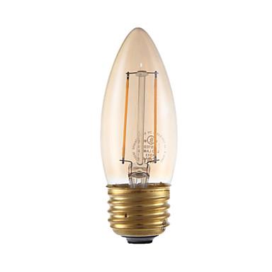 gmy led candélabre ampoule b10 2w bougie ampoule à filament équivalent 17w avec e26 base 2200k ambre lustre vintage décoratif