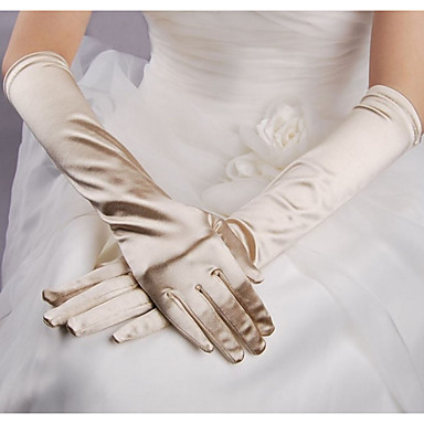 abordables Gants de Fête-Térylène Longueur Coude Gant simple / Gants Avec Couleur Unie