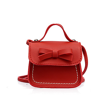 cheap Kids' Bags-Women's Bags PU(Polyurethane) Kids' Bag Solid Color Red / Pink / Yellow