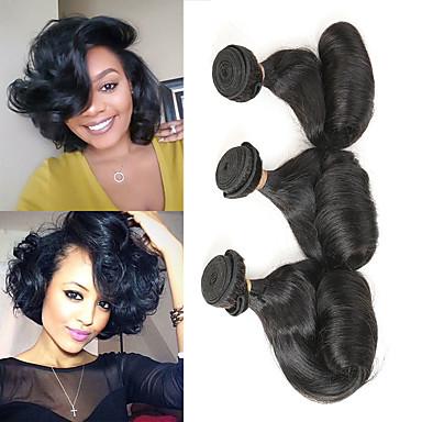 3 pacchetti Brasiliano Ondulato capelli naturali Remy Extension di capelli umani 10-28 pollice Naturale Tessiture capelli umani Migliore qualità Nuovo arrivo vendita calda Estensioni dei capelli umani