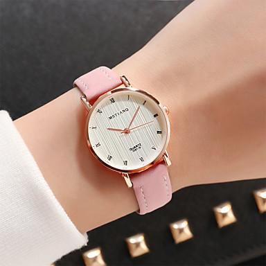 baratos Relógios Senhora-Mulheres Relógio Elegante Quartzo Couro Verde / Rosa / Cáqui Adorável Analógico Casual Fashion - Café Verde Rosa claro