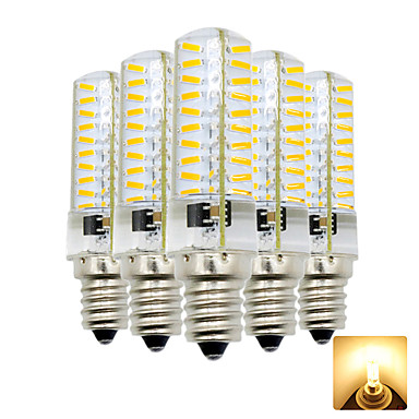 5pcs 4 W 300-400 lm E12 Ampoules Maïs LED T 80 Perles LED SMD 4014 Adorable Blanc Chaud / Blanc Froid 110-130 V