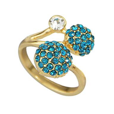 billige Motering-Dame Fancy Ring vikle ring Strass Legering Ball Geometrisk Grunnleggende Motering Smykker Blå Til Daglig Stevnemøte