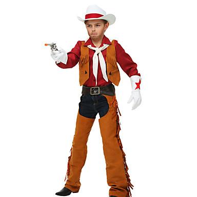 Westworld Západní kovboj Kovbojské kostýmy Chlapecké Dětské Úbory Aktivní Vánoce Halloween Karneval Festival / Svátek Polyester Vybavení Kávová Třásně