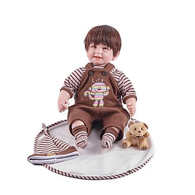 FeelWind Muñecas reborn Bebés Niños 22 pulgada Silicona Vinilo - natural Hecho a Mano Bonito Niños / Adolescentes No tóxico Kid de Unisex Juguet Regalo