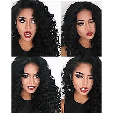 dd7dda0c2 Remy Human Hair Full Lace Lace Front Wig Asymmetrical style Brazilian Hair  Deep Wave Deep Curly Wig 130% 150% 180% Density Fashionable Design Soft  Women ...