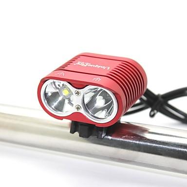 billige Lommelykter & campinglykter-Sykkellykter LED LED 0 emittere 2000 lm 3 lys tilstand med batteri og lader Vanntett Nedslags Resistent Oppladbar Camping / Vandring / Grotte Udforskning Dagligdags Brug Sykling