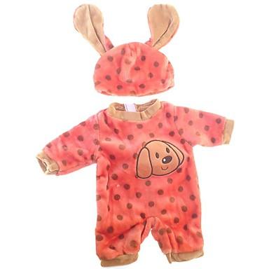 voordelige Poppenaccessoires-Doll accessoires Reborn-poppen Herboren peuter pop Honden Baby meisjes Schattig Kinderen / Tieners Pluche Kinderen Unisex Speeltjes Geschenk 2 pcs