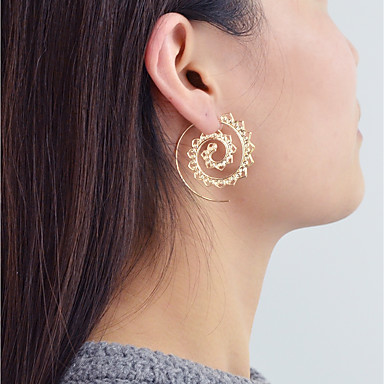 abordables Boucle d'Oreille-Femme Boucle d'Oreille Créoles Géométrique Géométrique Mode Des boucles d'oreilles Bijoux Dorée Pour Quotidien Rendez-vous 1 paire