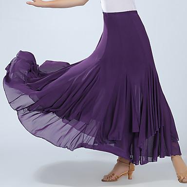 Für den Ballsaal Unten Damen Training / Leistung Elasthan Horizontal gerüscht Hoch Röcke