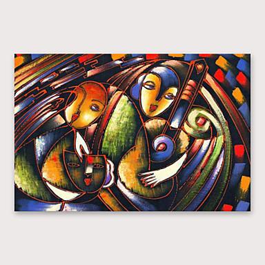 Hang-malované olejomalba Ručně malované - Abstraktní Moderní Obsahovat vnitřní rám