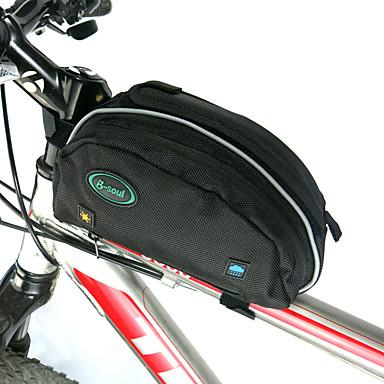 billige Sykkelvesker-B-SOUL 10 L Vesker til sykkelramme Ryggsekktrekk Bærbar Anvendelig Holdbar Sykkelveske Oxford Sykkelveske Sykkelveske Sykling Utendørs Trening Sykkel