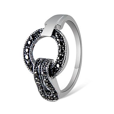 voordelige Herensieraden-Heren Dames Ring Kubieke Zirkonia 1pc Grijs Verzilverd Kromi Gesimuleerde diamant Artistiek Uniek ontwerp Vintage Feest Ceremonie Sieraden Vintagestijl Cool