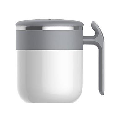 ieftine Office & Scoala de gradina-nici o baterie lingura de cafea cu ceasca de cafea cu microunde alimentata cu roti ptf rotor agitator premium otel inoxidabil 300ml - artizan inima