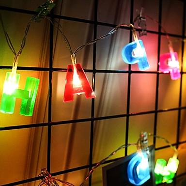 2m Guirlandes Lumineuses 14 LED Blanc Chaud Décorative Piles AA alimentées 1 set