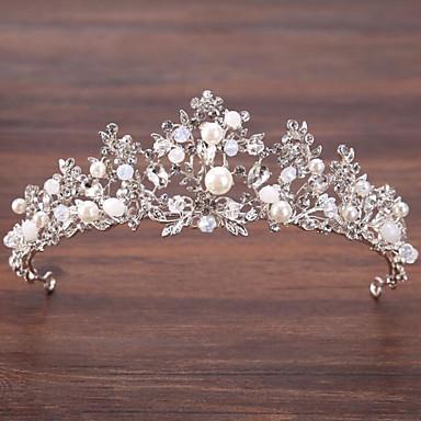 合金 ティアラ とともに 人造真珠 / クリスタル装飾 1個 結婚式 / パーティー かぶと
