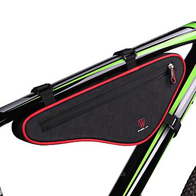 billige Sykkelvesker-Wheel up 1 L Vesker til sykkelramme Triangle Frame Bag Bærbar Anvendelig Enkel å installere Sykkelveske Klede Sykkelveske Sykkelveske Sykling Utendørs Trening Trail