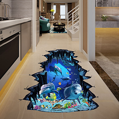 Ozdobné samolepky na zeď - 3D samolepky na zeď / Zvířecí nálepky na zeď Krajina / Zvířata Obývací pokoj / Ložnice / Kuchyň
