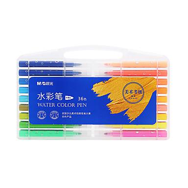 1 Pcs 36 Colori M&g Acpn0203 Penna Ad Acqua #07129836 Ultimo Stile