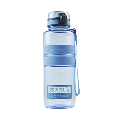 billige Sykkeltilbehør-UZSPACE® vannkoker Vannflasker 1500 ml PP PC Matbokser Bærbar Kul til Reise Backcountry Utendørs Grønn Lilla Fuksia Oransje Marineblå