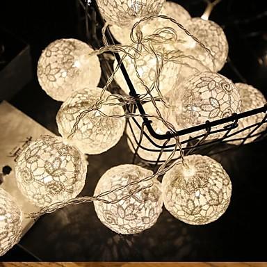 1.5m Guirlandes Lumineuses 10 LED Blanc Chaud Décorative Piles AA alimentées 1 set