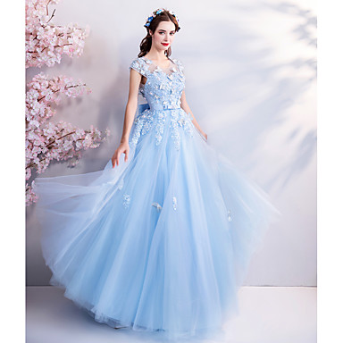 66ebbd46a4d92 Cinderella Dress Women's Movie Cosplay Floral Embroidery Open Back ...