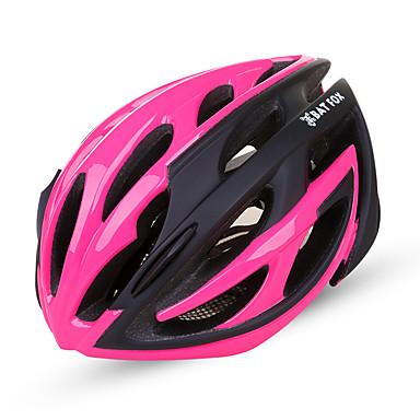 abordables Casques de Cyclisme-BAT FOX Adulte Casque de vélo 18 Aération CE Résistant aux impacts Intégralement moulé Ventilation EPS PC Des sports Vélo de Route Vélo tout terrain / VTT Activités Extérieures - Fuchsia Rouge Bleu