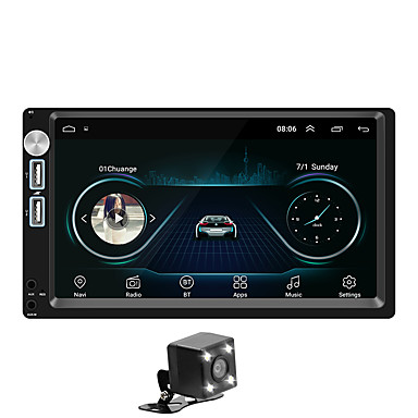 tanie Samochód Elektronika-SWM A5+4LEDcamera 7 in 2 DIN Android 8.1 Samochodowy odtwarzacz multimedialny / Samochodowy odtwarzacz MP5 / Samochodowy odtwarzacz MP4 Ekran dotykowy / GPS / Wbudowany Bluetooth na Univerzál RCA